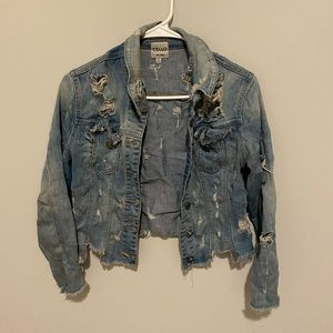 Rip up jeans jacket